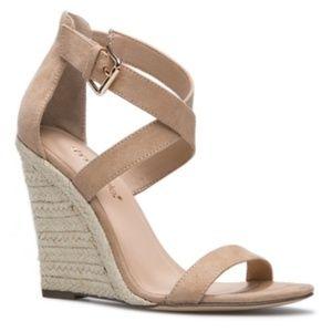 Nude Criss cross espadrille sandals